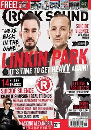 Rock Sound - Chester Bennington and Mike Shinoda of Linkin Park on the cover of June 2014 edition.