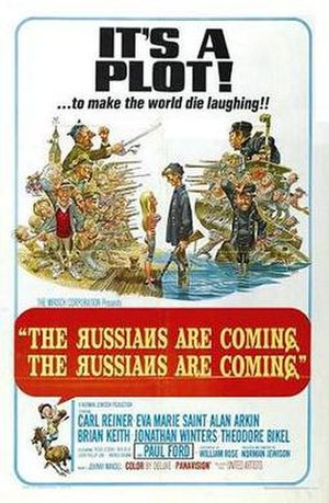 The Russians Are Coming, the Russians Are Coming - theatrical film poster by Jack Davis