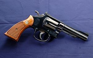 "Image result for Smith & Wesson S&W Model 15-4, The K-38 Combat Masterpiece, Blue 4"" 6-Shot DA/SA Double Action Revolver"