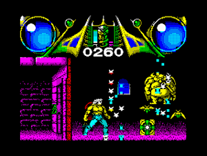 Savage (video game) - Stage 1 from the ZX Spectrum version