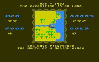 The Seven Cities of Gold (video game) - Screenshot of the Amiga version of Seven Cities of Gold