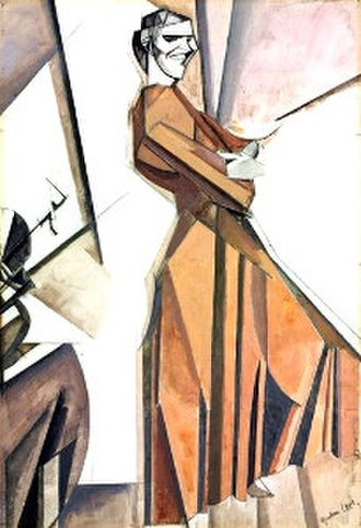 Kate Lechmere - Lechmere was the model for Smiling Woman Ascending a Stair, Wyndham Lewis, 1912.