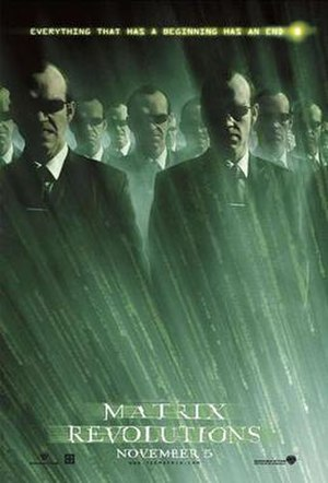 Agent Smith - Movie poster for The Matrix Revolutions, featuring some of the numerous copies of Smith