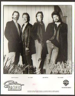 Southern Pacific (band) - Southern Pacific (left to right: Knudsen, Cook, McFee, Howell), 1989.