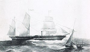 British and American Steam Navigation Company - The loss of the President (2350 GRT) in 1841 forced British and American to collapse.