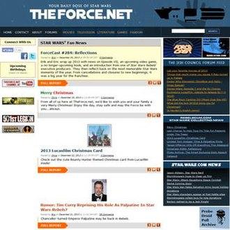 TheForce.Net - Image: TFN Homepage