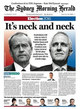 The Sydney Morning Herald front page