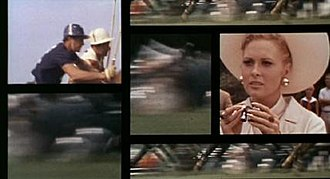 Multi-dynamic image technique - Scene from The Thomas Crown Affair (1968) demonstrating one example of the multi-dynamic image technique