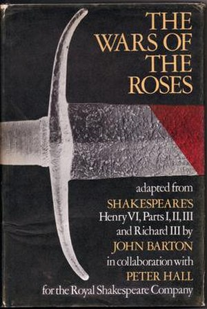 The Wars of the Roses (adaptation) - Cover of the play script published in 1970.