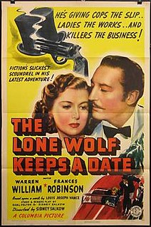 <i>The Lone Wolf Keeps a Date</i> 1941 film by Sidney Salkow
