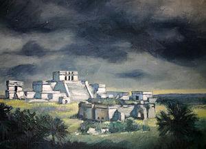 Joseph S. Kozlowski - Tulum, painting by Joseph S. Kozlowski, 1940.