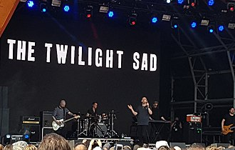 The Twilight Sad - The Twilight Sad performing live at Hyde Park, London in 2018. Left to right: Andy MacFarlane, Sebastien Schultz, James Graham, Brendan Smith, and Johnny Docherty.
