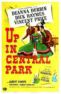 <i>Up in Central Park</i> (film) 1948 film by William A. Seiter