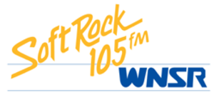 "WWPR-FM - The WNSR logo that was in use from 1986 until rebranding as ""Mix 105"" in 1990."