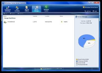 Windows Home Server - Windows Home Server Console