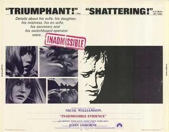 """Inadmissible Evidence (film) - Image: """"Inadmissable Evidence"""" (1968 film)"""