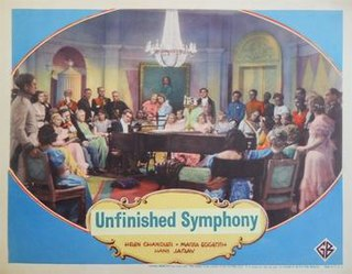<i>Unfinished Symphony</i> (film) 1934 film by Anthony Asquith, Willi Forst