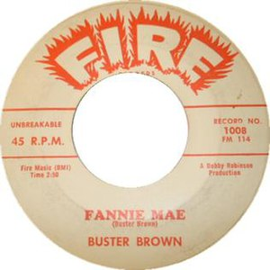 Fannie Mae (song) - Image: 1 fannie may buster