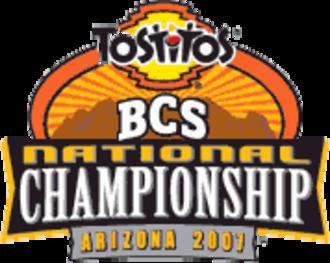 2007 BCS National Championship Game - Image: 2007 BCS Natl Championship logo