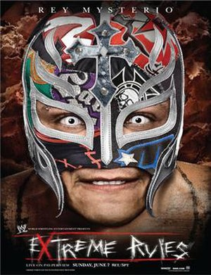 Extreme Rules (2009) - Promotional poster featuring Rey Mysterio