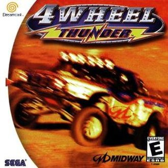 4 Wheel Thunder - North American Dreamcast cover art