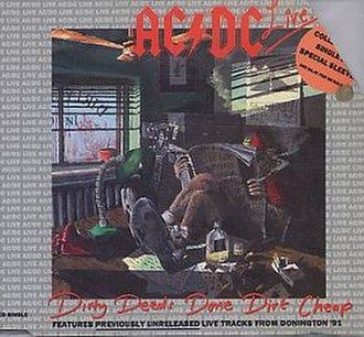 Dirty Deeds Done Dirt Cheap (song) - Image: Acdcdirtydeedslive
