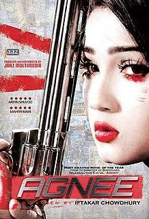 <i>Agnee</i> (2014 film) 2014 Bangladeshi crime thriller film directed by Iftakar Chowdhury
