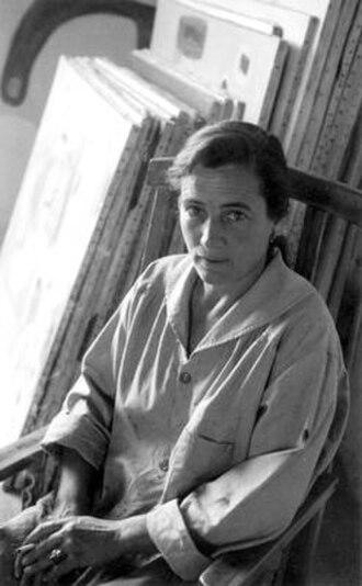 Agnes Martin - Martin in her studio, 1954