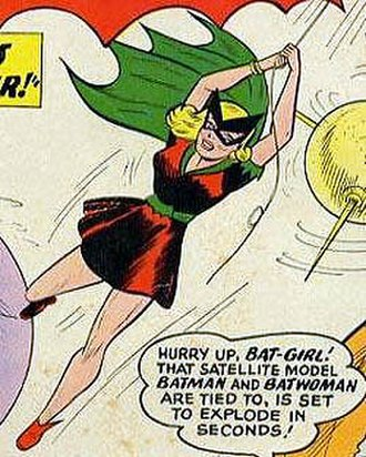 Bette Kane - Betty Kane as Bat-Girl; art by Sheldon Moldoff.