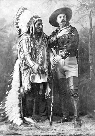 Show Indians - Buffalo Bill Cody and Sitting Bull