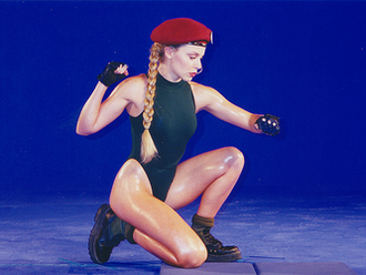 Cammy - Kylie Minogue portraying Cammy for Street Fighter: The Movie based on the 1994 film where she starred