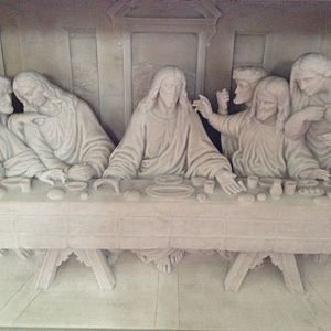 "St Patrick's Cathedral, Armagh (Roman Catholic) - Detail, Cesare Aureli, ""The Last Supper"", 1904"