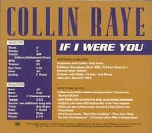 If I Were You (Collin Raye song) - Image: Collinraye.ifiwereyo u