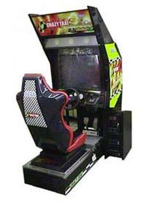 Crazy Taxi - The Crazy Taxi arcade cabinet