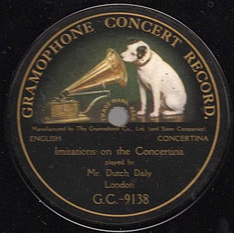 Gramophone Company - Early Gramophone label with HMV trademark
