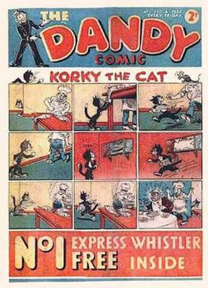 The Dandy - Front page of first issue