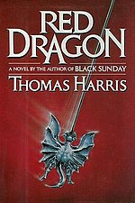 The cover of Thomas Harris's 1981 novel Red Dragon.