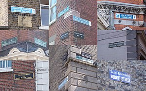 Streets and squares in Dublin - Image: Dublin Street Signs