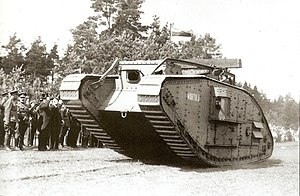 Mark V Composite tank in Estonian service - Image: EST Tanks Mark V Wahtula on the Auto Tank Regiment summerdays