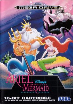 Ariel the Little Mermaid - European Mega Drive cover art