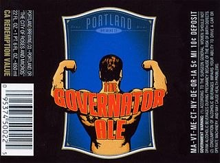 The Governator Ale product label