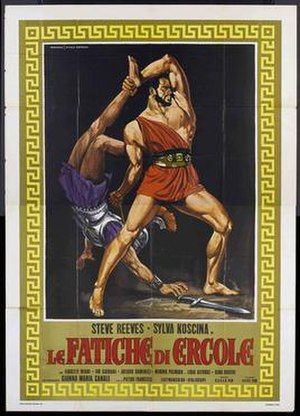 Hercules (1958 film) - Italian film poster