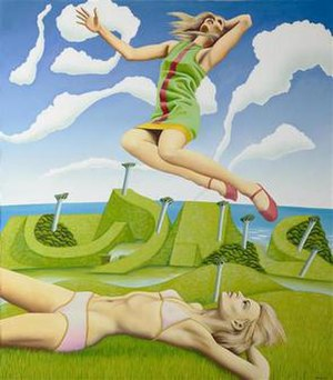 Ian Scott (artist) - Ian Scott. Leapaway Girl, 1969. Oil on canvas, 1725 x 1515 mm. The Museum of New Zealand Te Papa Tongarewa. Purchased 1971 from Wellington City Council Picture Purchase Fund
