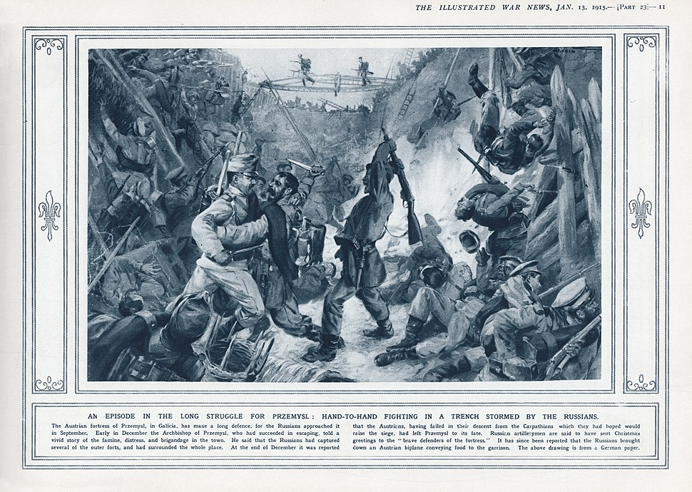 Illustrated War News, Jan. 13, 1915, page 11 - Siege of Przemysl