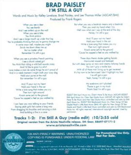 Im Still a Guy single by Brad Paisley