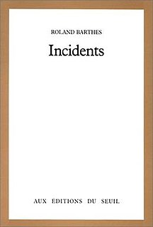 <i>Incidents</i> book by Roland Barthes