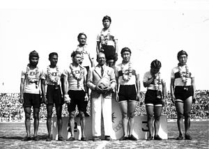 1951 Asian Games - Asiad 1951 Cyclists on Podium