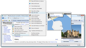 Internet Explorer 8 - A map Accelerator using the IE8 Accelerators Smart tag