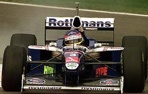 1997 San Marino Grand Prix - Jacques Villeneuve driving in the San Marino Grand Prix