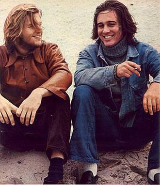 Barry Brown (actor) - Brown (right) with Jeff Bridges photographed by Chris von Wangenheim shortly after they appeared together in Robert Benton's Bad Company (1972)